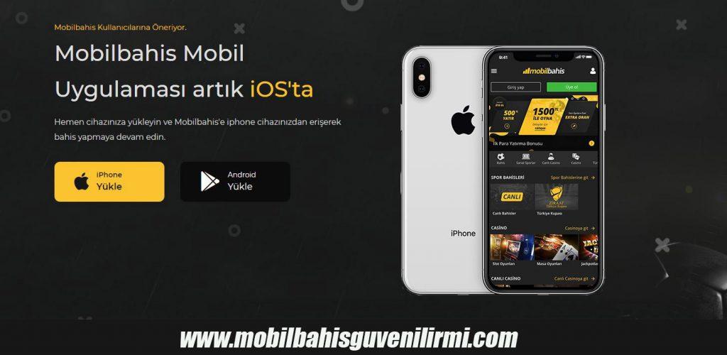 Mobilbahis Mobil uygulaması iOS'ta